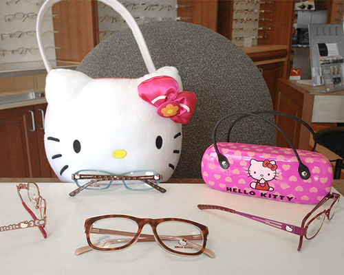 Hello Kitty Frames at Bluegrass Family Vision